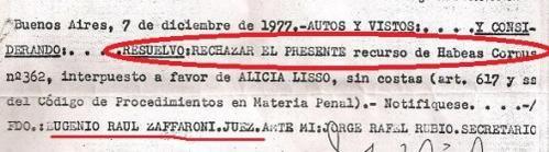 @RCachanosky Mirá Zaffaroni rechazando un Habeas Corpus en 1977...   Lindo Kirchnerista eh!