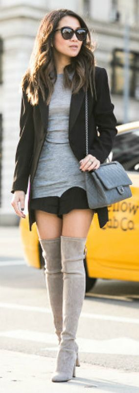 Beige Thigh High Boots - Cr Boot