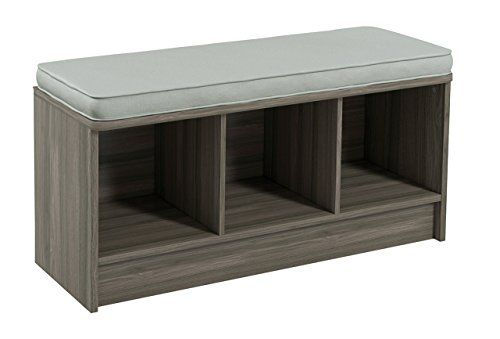 Closetmaid 3258 Cubeicals 3 Cube Storage Bench Natural Gray