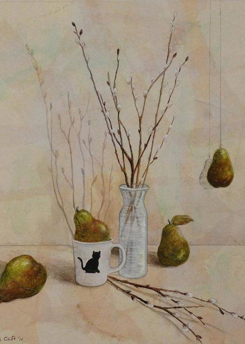 Sandy Clift. Pussywillows and Pears