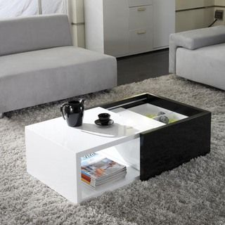 Matrix Karla High-gloss Hide-away Storage Coffee Table | Overstock.com Shopping - Great Deals on Matrix Coffee, Sofa & End Tables
