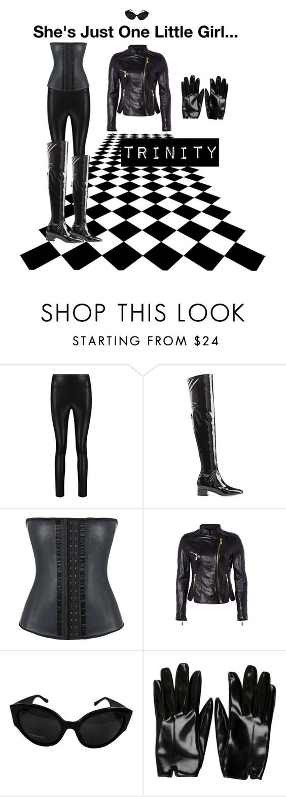 """""""The answer is out there Neo..."""" by gisellefree ❤ liked on Polyvore featuring Boohoo, Valentino, Richards Radcliffe, Yves Saint Laurent, Balenciaga, halloweencostume and DIYHalloween"""