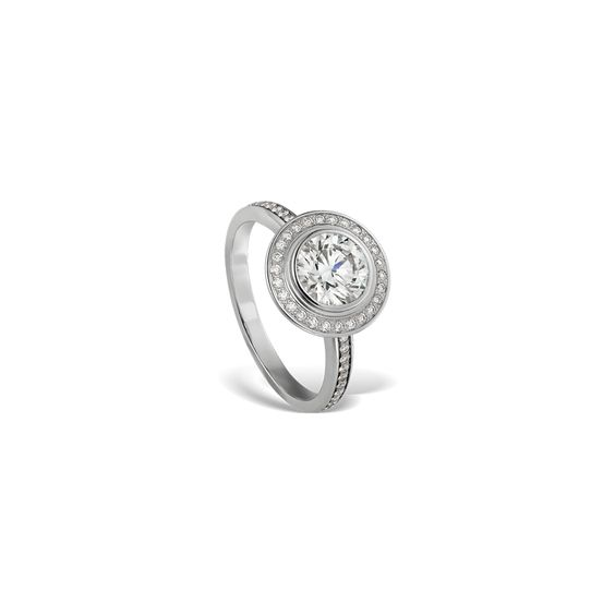 Cartier d'Amour solitaire paved with diamonds
