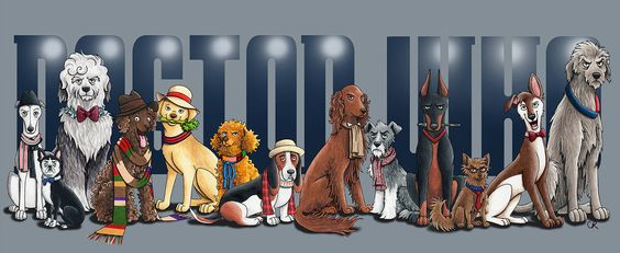 """Dogtor Who"" ~ Artist Christie Cox imagines the Doctors as dogs, and it's brilliant..."