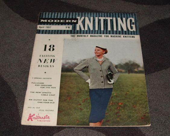 . MACHINE KNITTING MAGAZINE - MODERN KNITTING APRIL 1957