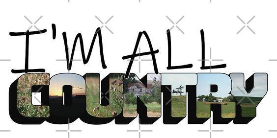 """""""I'm All Country Big Letter"""" by Colleen Cornelius 