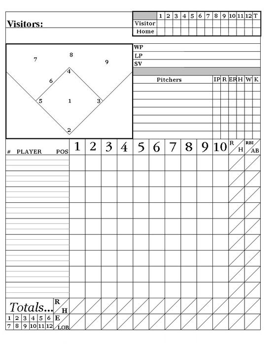 Printable Baseball Score Sheets Here is my system Words to - baseball scoresheet