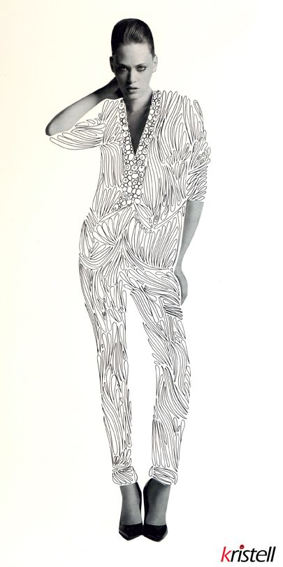 """Dessin au rotring. Encre de chine. Silhouette femme. Woman model. #drawing #fashion #model #mannequin #artwork Série """"déshabillez-moi"""""""