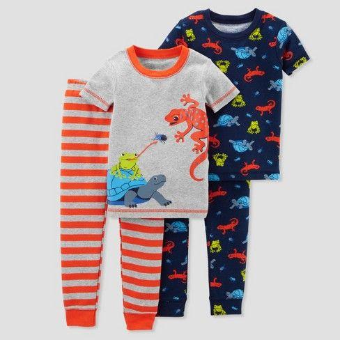 Toddler Boys/' 4pc Dogs 100/% Cotton Pajama Set Justoneyou by Carters Blue