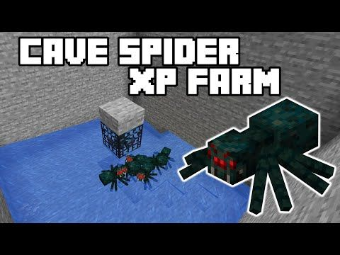 Cave Spider Xp Farm Minecraft 1 15 1 16 Tutorial Java Edition Youtube In 2021 Minecraft Minecraft Spider Minecraft 1