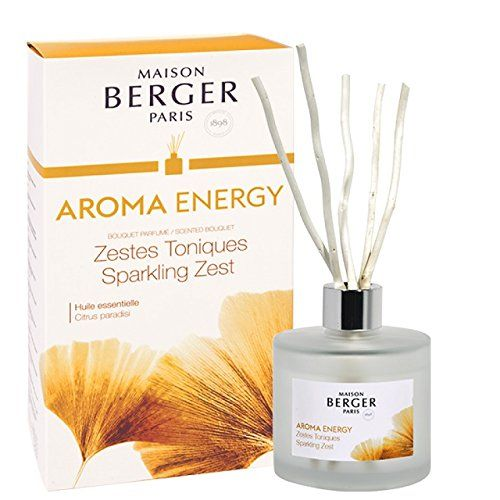 Lampe Berger Maison Berger Paris Aroma Energy Scented Bouquet Sparkling Zest Reed Diffuser Oil Diffuser Aroma