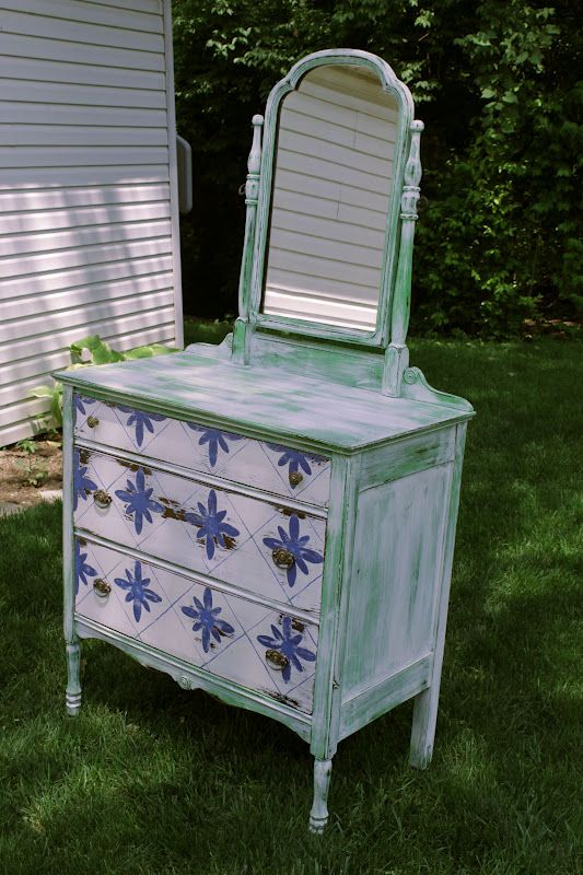 VanHook & Co.: Dresser with Handpainted Design