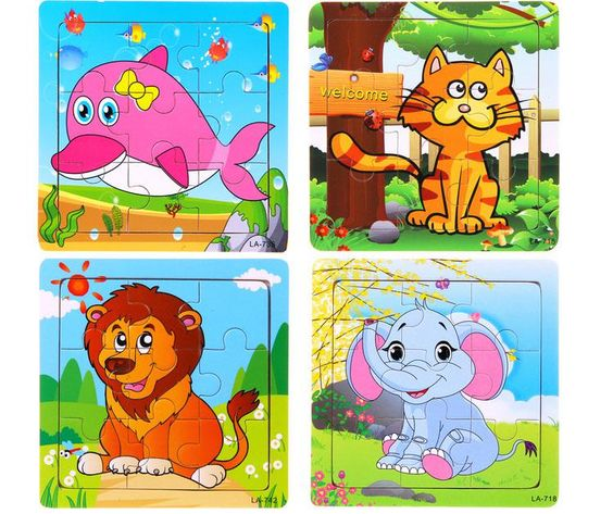 24 style The new hot products Wooden Jigsaw Puzzle Kindergarten baby toys 9 piece jigsaw puzzle toy Free shipping