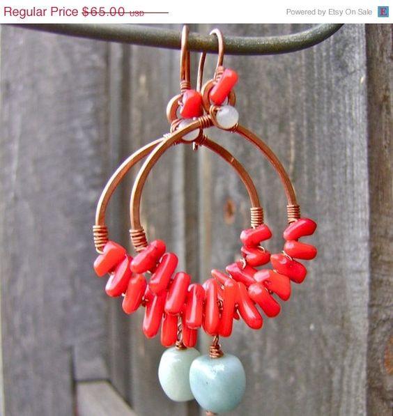 ON SALE Tropic of Anywhere Hoop Earrings in Recycled by FullSpiral, $45.50