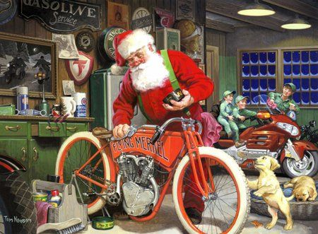 Santas Garage by tom newsom - by, garage, tom, newsom, santas:
