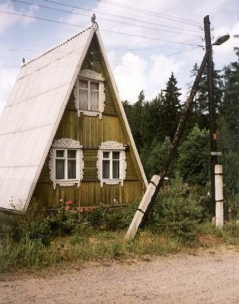House proud; Examples of  the fantastic domestic architecture found across Eastern Europe. Traditional Russian houses known as Dachas.