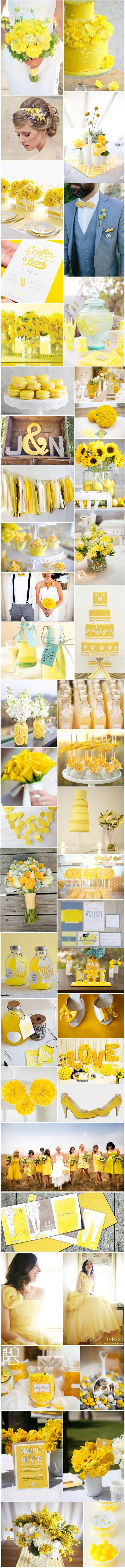 [Inspiration] Mariage jaune