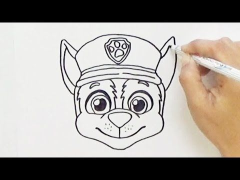 How To Draw Chase Face From Paw Patrol Very Easy Hde Youtube Paw Patrol Coloring Paw Drawing Chase Paw Patrol