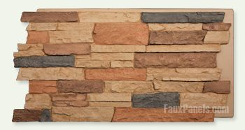 Norwich Dakota Stone Wall Fake Stone Panels Fireplace
