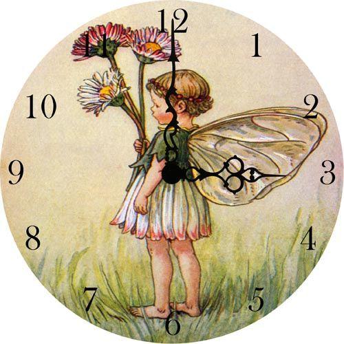 Little Daisy Fairy Vintage Wall Clock