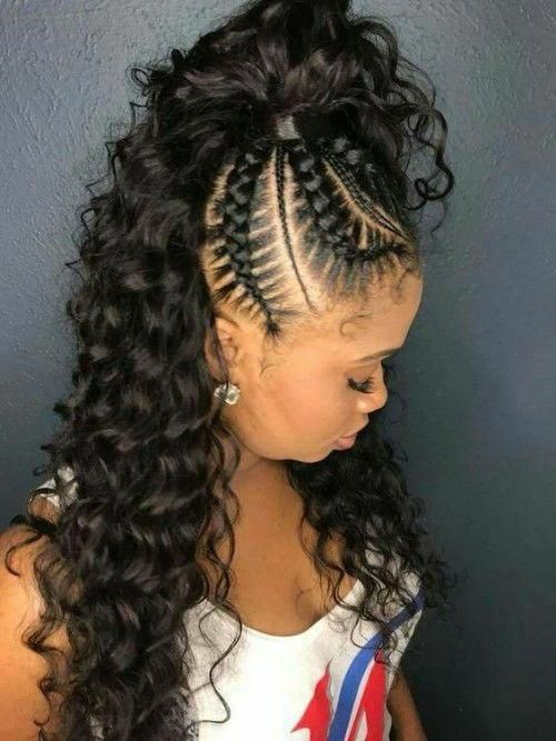 French Braids Ponytail For Black Women Frenchbraids Ponytail Frenchbraidsponytail Pony Braided Hairstyles French Braid Ponytail Braided Ponytail Hairstyles