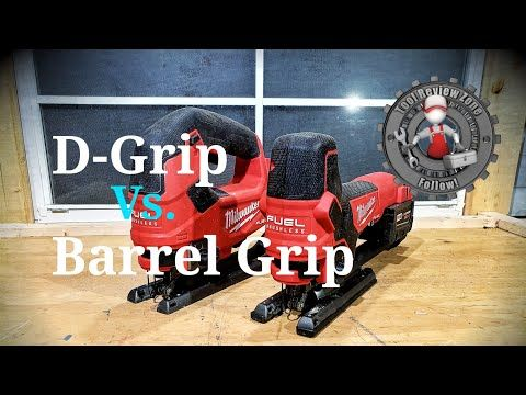 Milwaukee Barrel Grip Jigsaw 2737b 20 Vs Milwaukee D Handle Jigsaw 2737 20 Tool Duel Episode 5 Youtube Milwaukee Milwaukee Tools Milwaukee M18