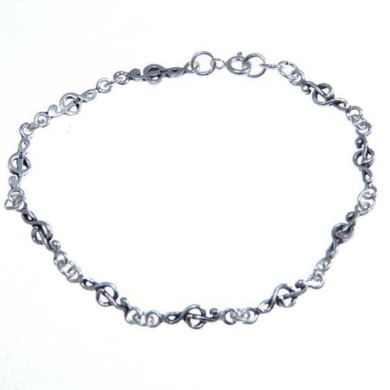 Treble Clef Bracelet Sterling Silver