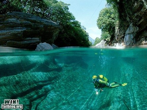 WINcation at the Verzasca River