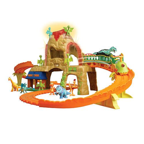 Dinosaurs Toys R Us : Dinosaur train time tunnel mountain motorized set