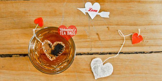 DIY bolsitas de te para San Valentín