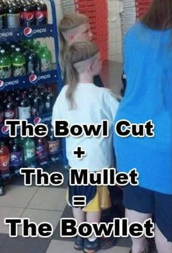 Bowl Cut + Mullet = Bowllet. Stay Classy People of Walmart - Redneck Hair Fail - Funny Pictures at Walmart