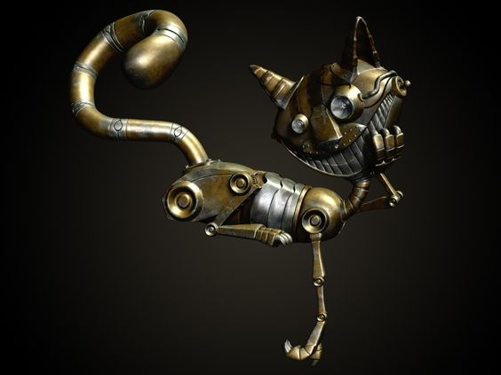 Steam punk Mechanical Cat by M1KES