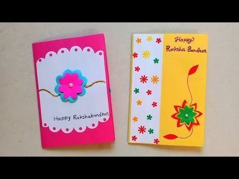 How To Make Beautiful Rakhi Cards At Home Diy Two Raksha Bandhan
