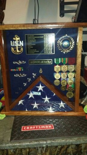 A shadowbox for one my brothers who retired.