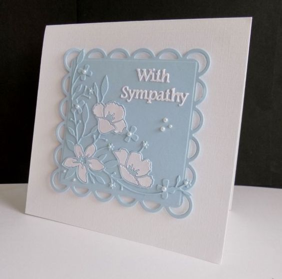 F4A319 ~ Floral Sympathy by sistersandie - Cards and Paper Crafts at Splitcoaststampers
