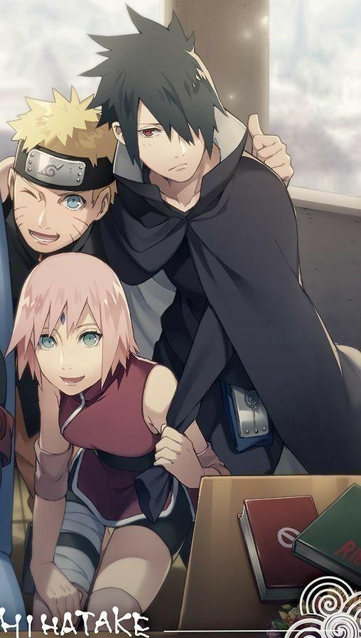 Naruto Uzumaki Sakura Haruno Sasuke Uchiha Naruto Shippuden Gaiden Fanart Anime Anime Fa Naruto Shippuden Sasuke Naruto Team 7 Naruto Und Sasuke