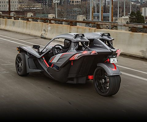The Slingshot Open Air Roadster 3 Wheel Motorcycle Absurdly Powerful No Roof No Doors No Regrets Choose A Mode Polaris Slingshot Slingshot Slingshot Car