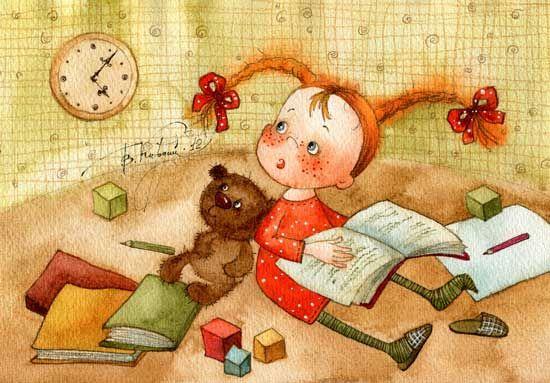 Reading Illustration by Vika Kirdiy
