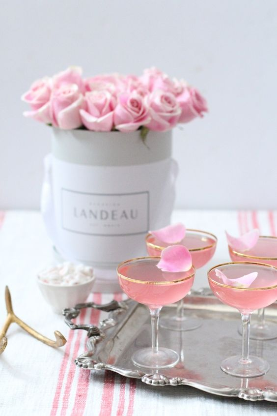 Lady Rose Cocktail Recipe made with vodka, rose syrup, rose water and tonic.: