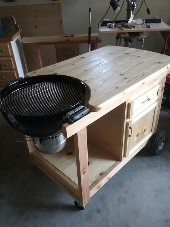 Df45cbd95955960e7d73db7f56b67c15 Jpg 720 960 Grill Table Weber Grill Table Diy Grill Table