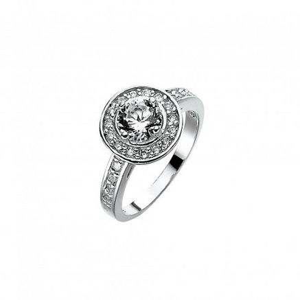 Tradition®/MD Women's Round Sterling Silver Ring, with Diamonds
