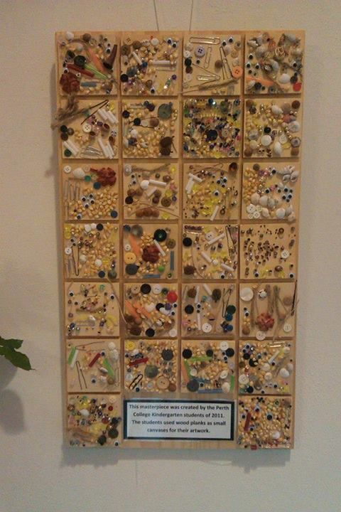 "Fab artwork on wood plank canvases by Kindergarten - image shared by Natural Inspired Environments ("",)"