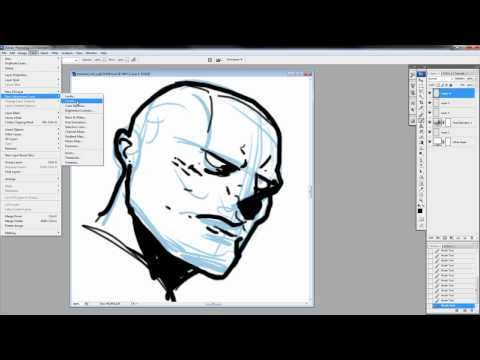DC Comics Guide to Digitally Drawing from Photoshop, to Manga Studio - Scribbles with Jonathan