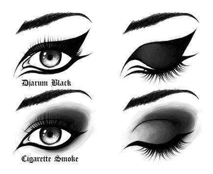 How to do Goth eye makeup. The top one is pretty much my everyday style