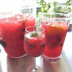 Watermelon sangria l watermelon white wine vodka triple for Sangria recipe red wine triple sec