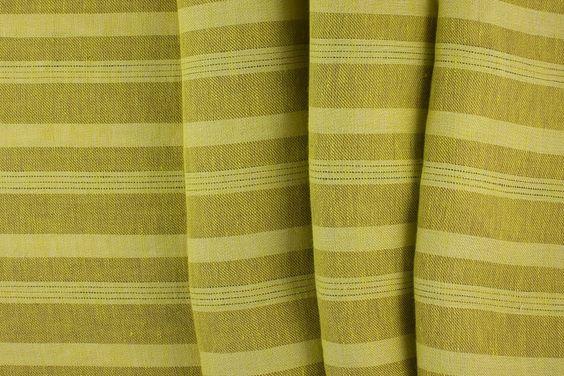Britex Fabrics -  Midweight Golden Wheat Striped Linen  LIMITED STOCK - Linen - Fabric