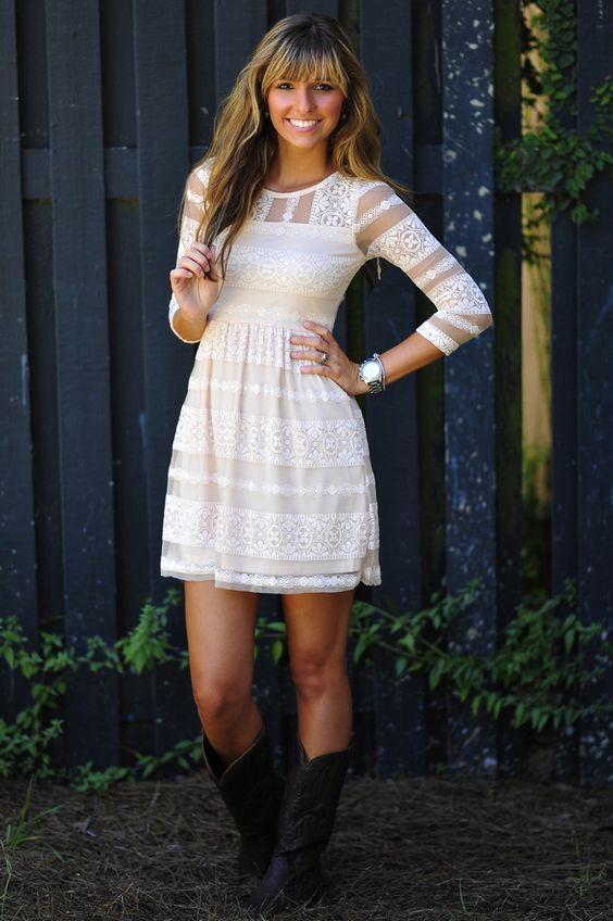 Mona Lisa Smile Dress: Ivory