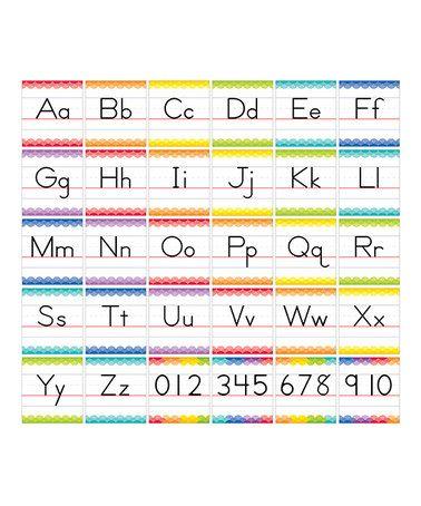 Loving this Traditional Manuscript Alphabet Line Bulletin Board Set on #zulily! #zulilyfinds