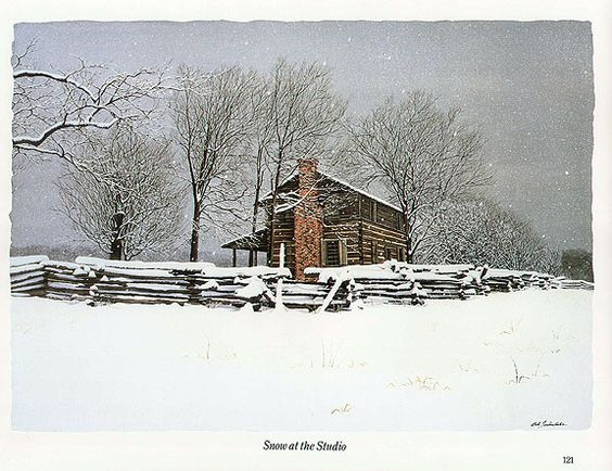 Bob Timberlake Quot Studio In The Snow Quot Art To Soothe The