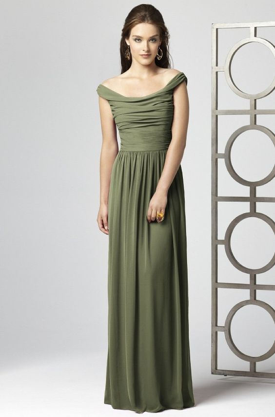 Olive green bridesmaid dress. Perfect style but needs to be in ...